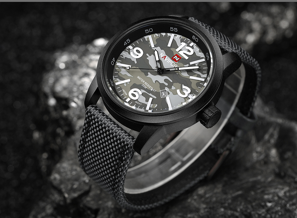 2017 Nouveau NAVIFORCE Hommes Quartz Sport Militaire Montres Hommes De Luxe de Marque De Mode Casual Montre-Bracelet Relogio Masculino Homme Horloge 15