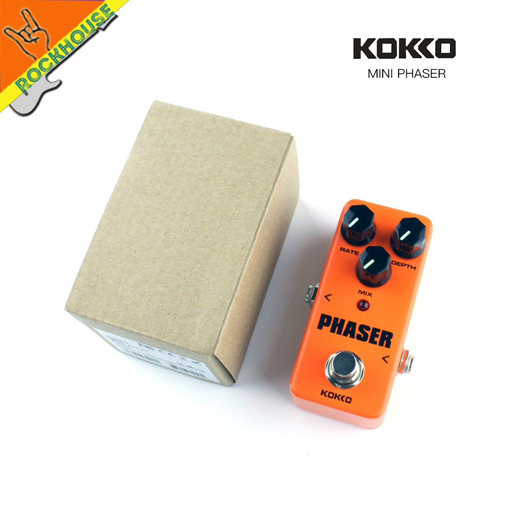 KOKKO MINI guitar effect pedal warm analog phase effect mixing ratio of phase effect and original sound true bypass mooer ensemble queen bass chorus effect pedal mini guitar effects true bypass with free connector and footswitch topper