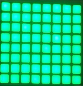 Free Shipping 5pcs X 6mm 8x8 Jade Green Blue Red White Led Dot Matrix Digital Display Module 2488bgg 2488bb Light Beads In From Lights