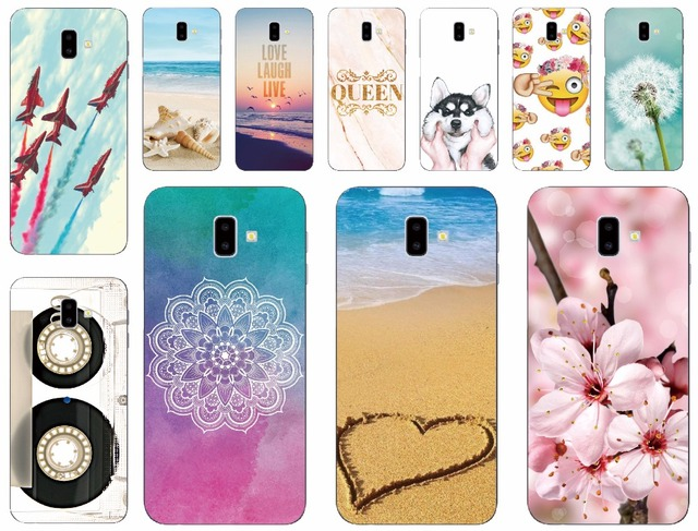 uk availability bc21f 2e01c US $3.8 |Print Funny Cute Animals Case For Samsung Galaxy J6 Plus J610F  Tape Floral Fundas Phone Cover For Samsung J6 Prime Queen Coque -in Fitted  ...