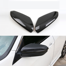 lsrtw2017 car-styling carbon fiber car rearview cover for honda civic 2016 2017 2018 10th