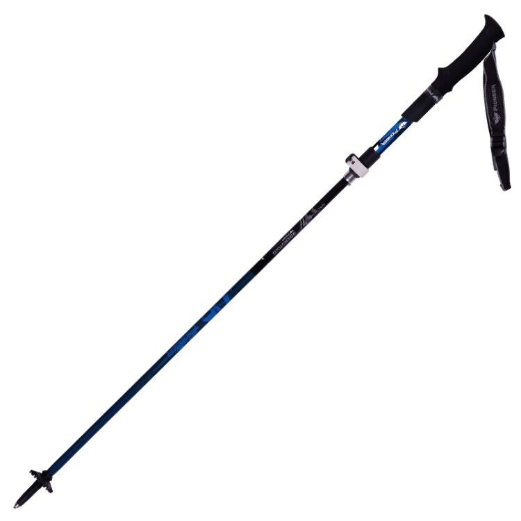 2 pack pionpack EER fibra de carbono plegable postes de Trekking ultraligero ajustable plegable viaje senderismo nórdico bastones 1 par - 2
