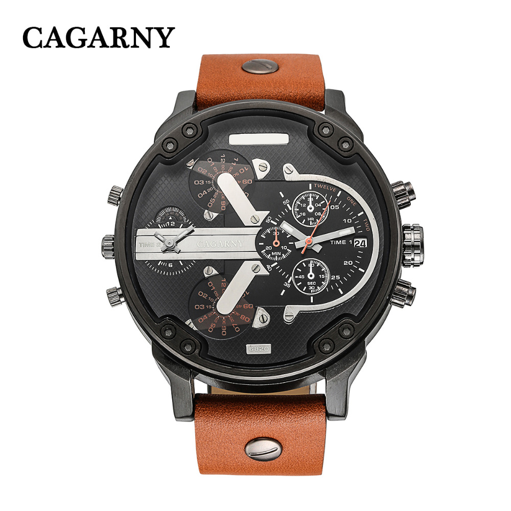 dual time zones military watch sports men's watches (6)