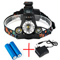 Super Bright 5000LM LED Headlamp CREE XML T6 4 Modes Rechargeable Headlight Head Lamp Spotlight For Hunting+Charger+2 PCS 18650