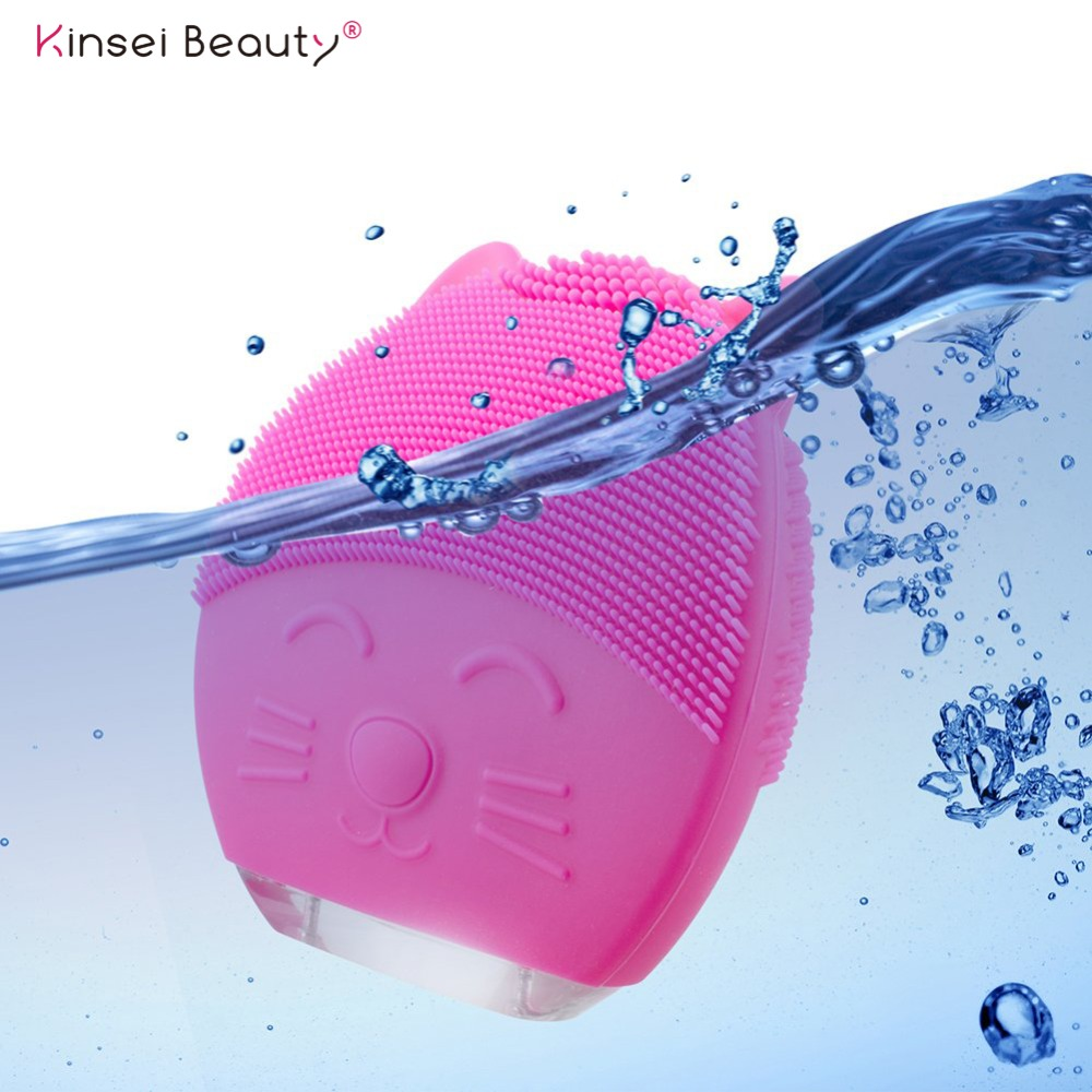 Electric Silicone Facial Cleansing Brush Cleanser Massager Sonic Cleansing Face Washing Exfoliation Blackhead Removal Pore Clean