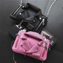 2016 women bags Designer clutch fashion rivet motorcycle shoulder bag new summer fashion handbag chain Crossbody casual Bag 827 цена