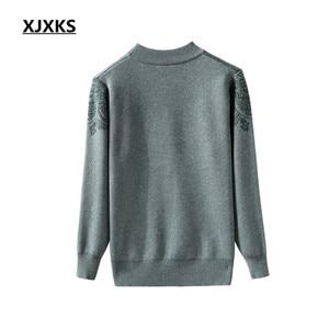 Image 3 - XJXKS 2019 new winter thick warm warm cashmere sweater women pullover loose plus size fashion diamond printed women tops