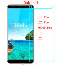 For Oukitel u25 Pro HD Phone Tempered Glass Screen Protector For Oukitel u23 U11 9H Protective Films case FOR Oukitel u11 Pro(China)