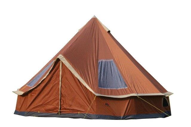 Licht Gewicht Tent : Outdoor waterdichte bell tent piramide grote india familie