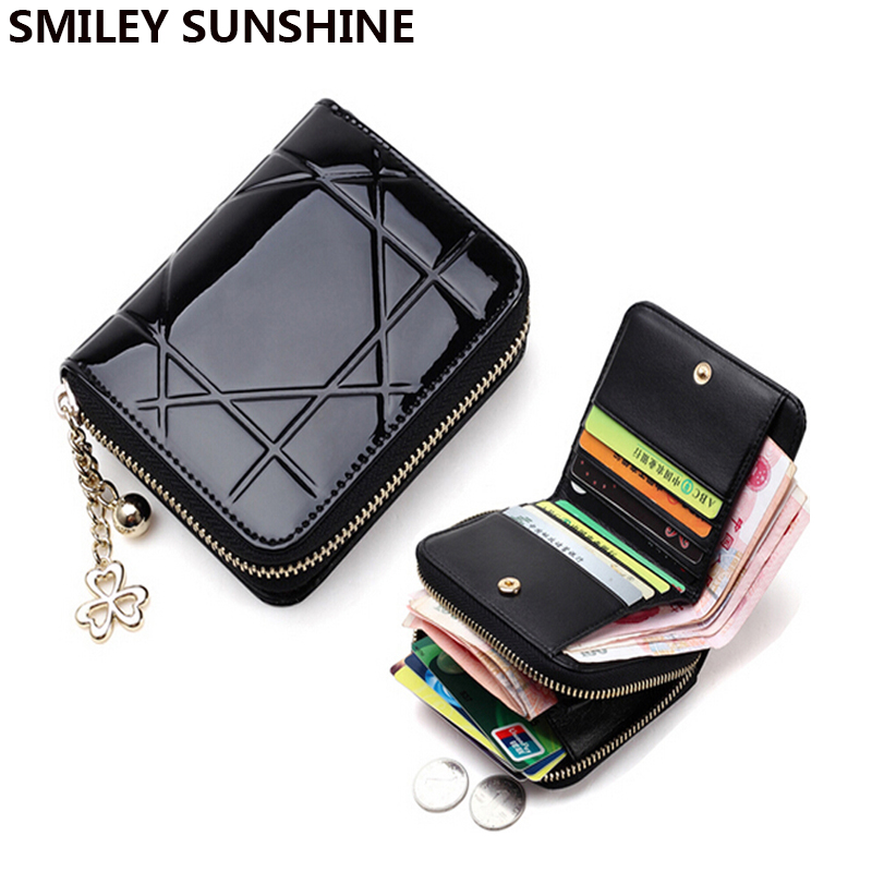 Women Coin Purses Holders Short Wallet Female Small Purse Women Patent Leather Wallet Clutch Bag Ladies