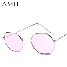 d65055be6b5 AMll 2018 Fashion Square Women Sunglasses Unique polygon Sun Glasses UV400  Brand Design Vintage Metal Eyeglasses Frames