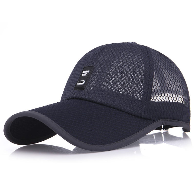 [NORTHWOOD] Summer Cap Mesh Baseball Cap Men Women Long Brim Snapback Trucker Cap Solid Casquette Homme