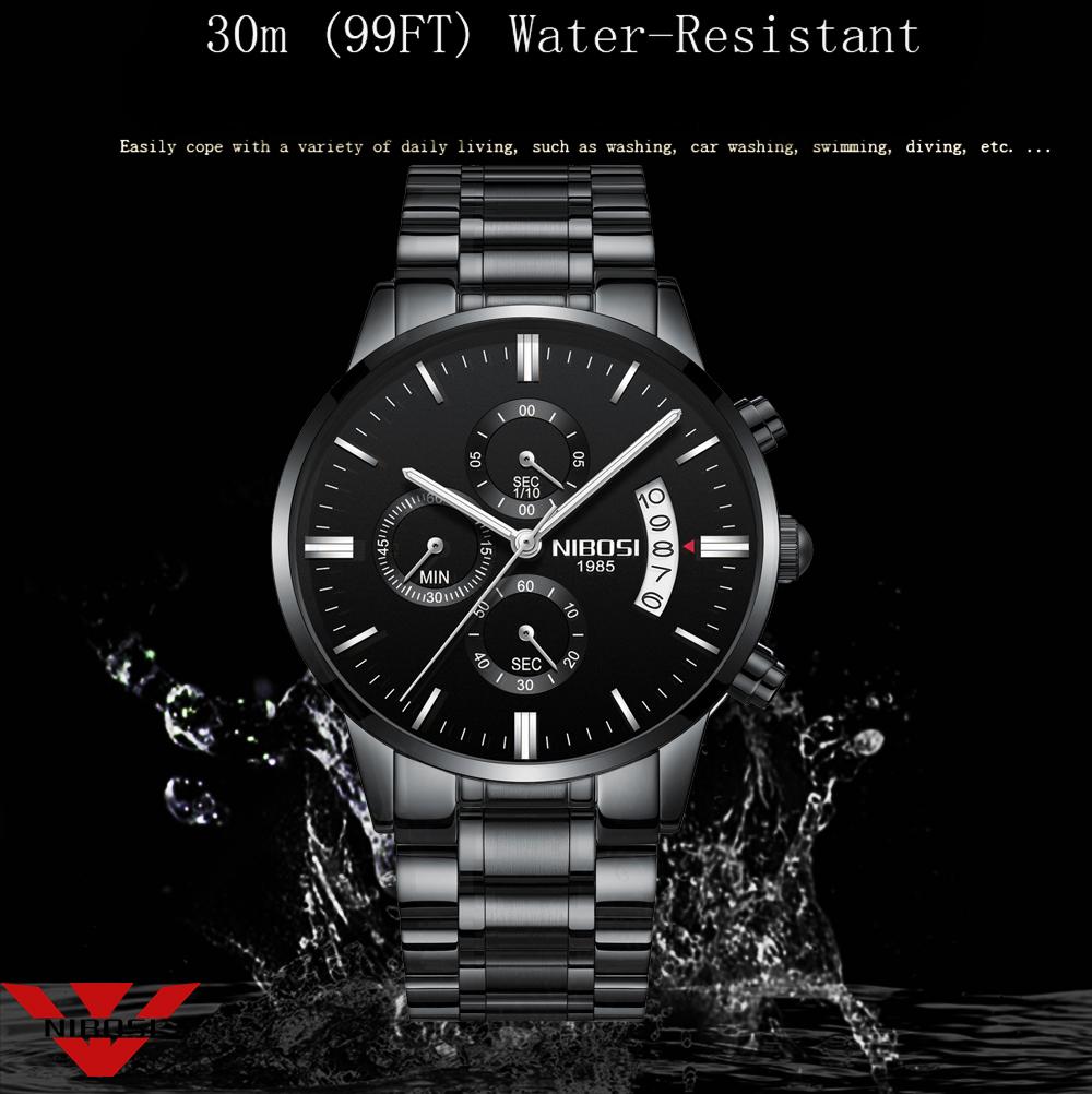 Relojes de hombre NIBOSI Relogio Masculino, relojes de pulsera de cuarzo de estilo informal de marca famosa de lujo para hombre, relojes de pulsera Saat 6