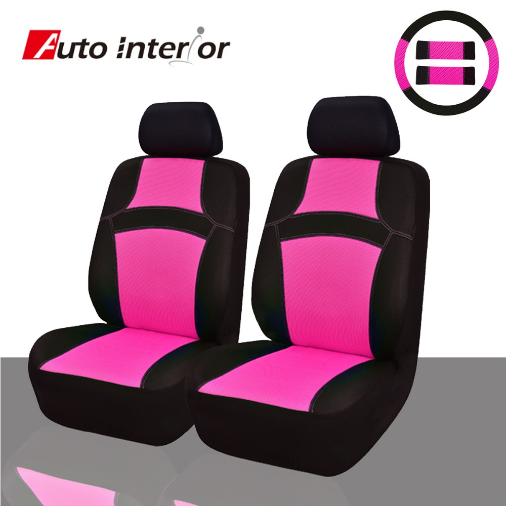 Colorful Rainbow 2 front Car Seat Covers & Steering wheel covers ...