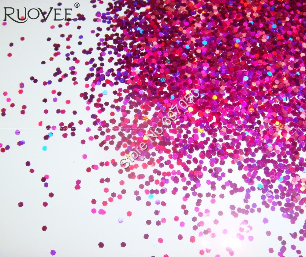 50 г-1 мм Блестки для ногтей фиолетово-красные ослепительные шестиугольные блестки Spangle форма для украшения ногтей Блестки для ногтей