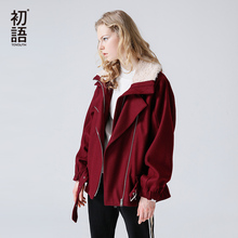 Toyouth Women Wool Blend Coat Woolen Coat 2019 Fashion Solid
