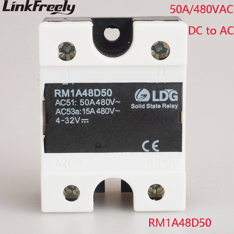 цена на RM1A48D50 2SCR PLC Solid State Relay DC AC 50A Output:42-530VAC Input:5V 12V 24V DC SSR Relay Soft Starting Relay Switch Board