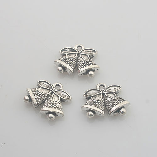 Systematic 14pcs Tibetan Silver Delicated Bell Charm X0130 Ideal Gift For All Occasions Home & Garden