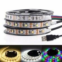 USB LED Strip Light 3528 RGB LED Strip Flexible Ribbon LED Tape With Mini 3 keys 50CM 1M 2M 3M 4M 5M FOR TV Background Lighting