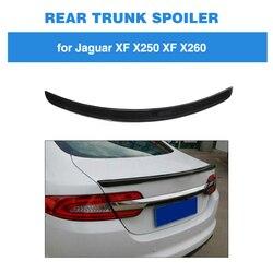 Tylny spojler dla Jaguar XF nie dla Sportbrake 2012 2015 wargi skrzydło z włókna węglowego tylny Trunk Boot w Spoilery i skrzydła od Samochody i motocykle na