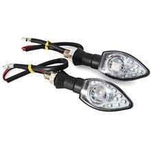 2Pcs 13 LEDs Motorcycle Turn Signal Indicator Light 12V 1W Motorbike Spot Lamp Arrow Shape Blinker Flasher Long Life Span Bright