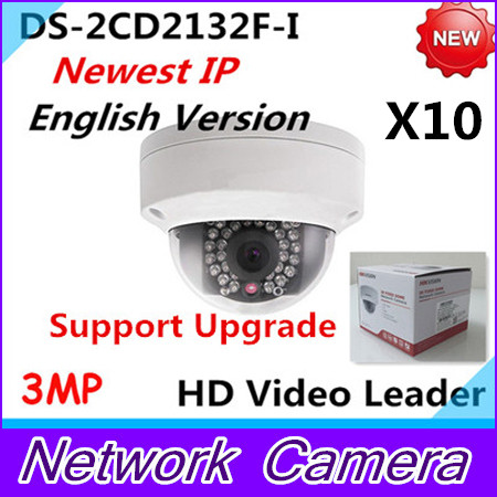 Wholesale Newest English Version IP Camera DS-2CD2132F-I 3MP Mini IR Dome Camera 1080P POE IP CCTV Camera Multi-language