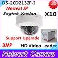 Wholesale Newest English Version IP Camera DS-2CD2132F-I 3MP Mini IR Dome Camera 1080P POE IP CCTV Camera Multi-language