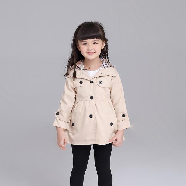Muchacha de los cabritos ropa de abrigo niños 2015 otoño primavera outwear niños chaquetas niños chaqueta de invierno para niñas