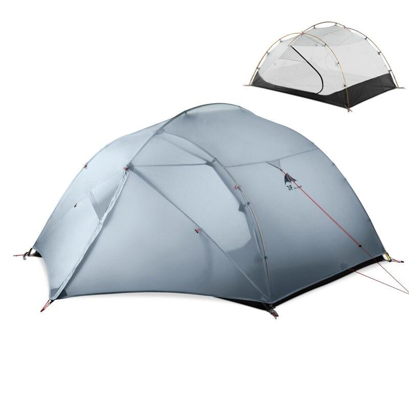 3F UL ENGRENAGEM 3 Pessoa 4 15D Temporada Barraca de Acampamento Ao Ar Livre Tendas Ultraleve Caminhadas Mochila Caça À Prova D' Água Folha de Terra