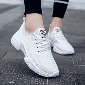 2019 Breathable Lightweight Women Running Shoes White Sneakers Woman Comfortable Non-slip Female Jogging Walking filas Shoes slip-on shoe
