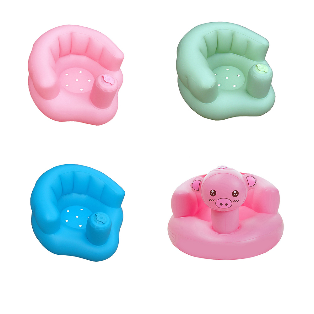 Pink Green PVC Infant Portable Play Game Mat Kids Baby Seat Inflatable Chair Sofa Bath Seats Dining Push Chair Sofa