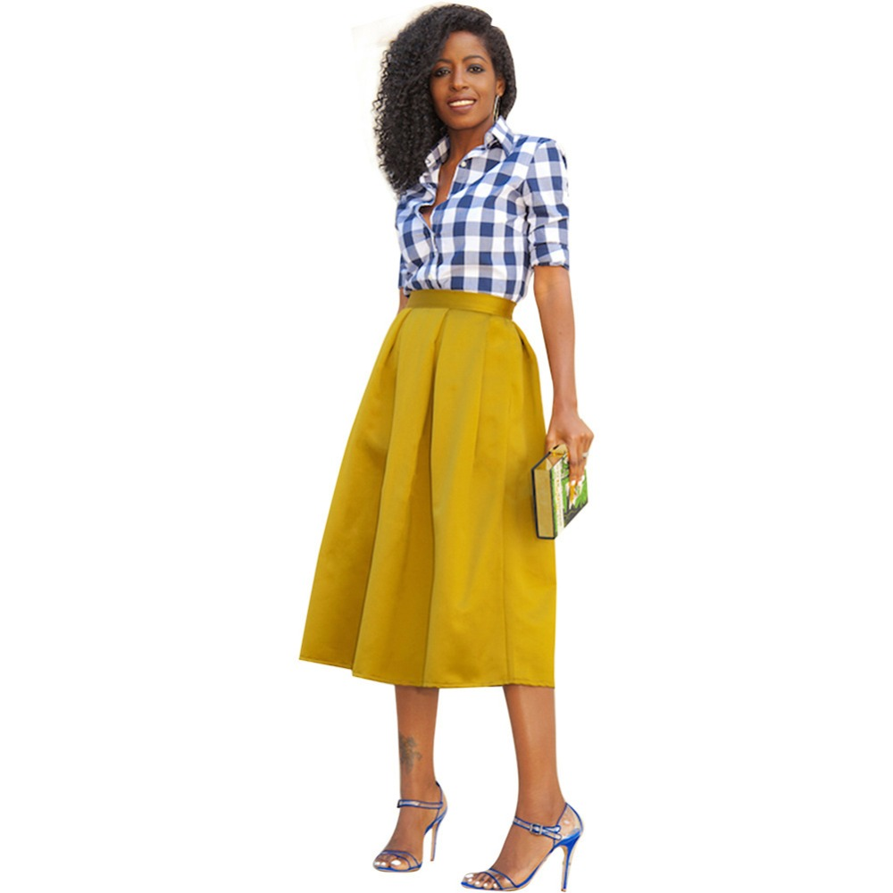 yellow skirt plus size | dress images