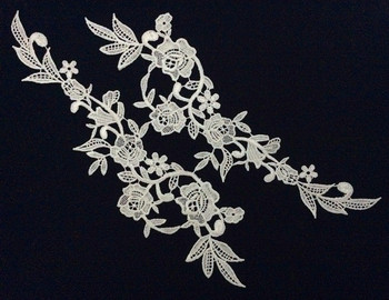 32cm*8cm polyester embroidery mirrored applique,embroidery hair decoration patches,veil applique,XERY-BQ0923A