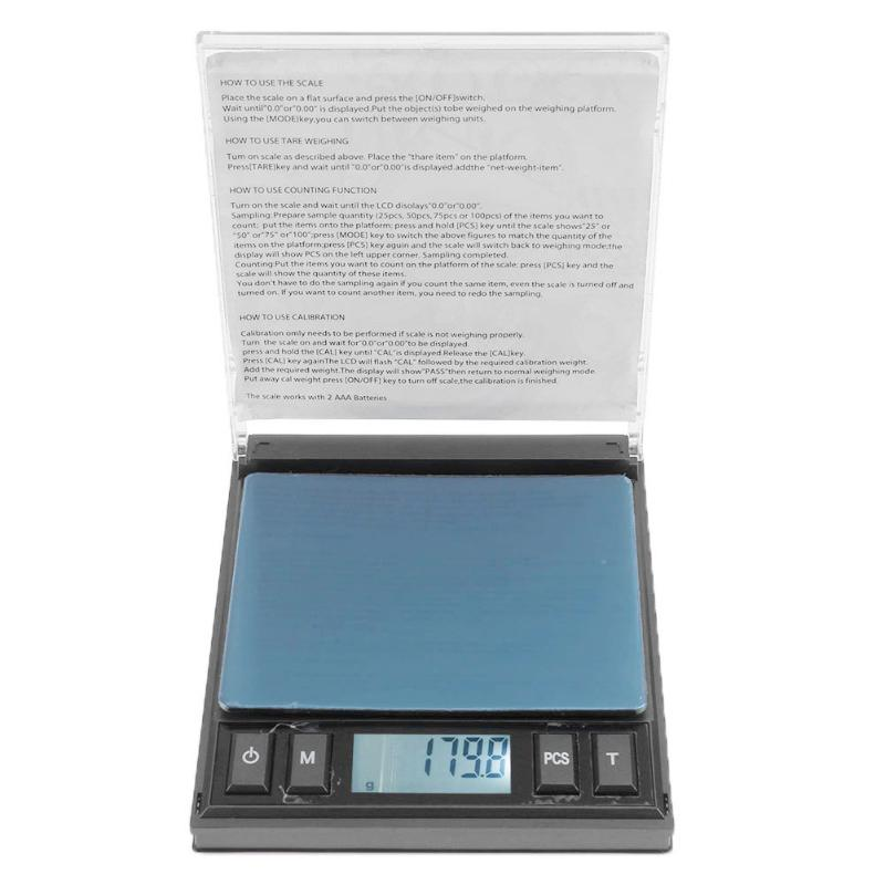 Large CD Backlight High-precision Electronic Scale Weighing Jewelry Scale 100g/0.01, 200g/0.01 ,1000g/0.01 все цены