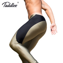 Taddlee Brand Sexy Long Pants Men's Sports Running Pencil Tight High Stretch Bottoms Active Jogger Workout Legging Full Length