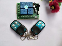 Hot Sale DC 12V 4CH Remote Control Relay Switch 1pcs Transceiver With 1 Receiver 200M Wireless