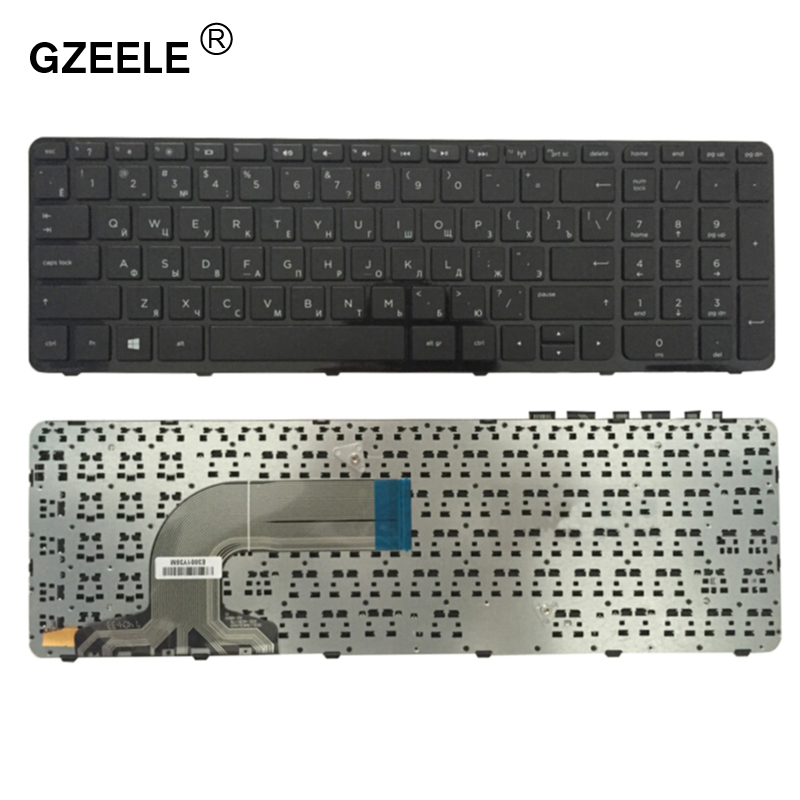 GZEELE Russian Keyboard For HP 15 E072 15-e006sr 15-e007sr 15-e008sr 15-e011sr 15-n056sr 15-n057sr 15-n058sr 15-n059sr RU Black