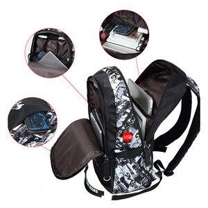 Рюкзак FengDong для мальчиков, большой, водонепроницаемый с нагрудной сумкой