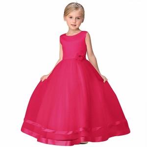 Image 2 - Vestidos de princesa, 8 cores, comunhão, crianças, grande, laço, flor, vestidos para casamentos, organza, peagant, vestido de festa de casamento