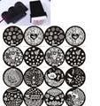 Hot Sale HEHE! 20 Pcs hehe Série 74 Projeto Stamping Nail Art Placa Imagem + 1 PC Livre XL Batedor Prego