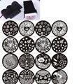 Venta caliente JEJE! 20 Unids jeje Series 74 Diseño Stamping Nail Art Placa de la Imagen + 1 UNID Envío XL Estampador de Uñas