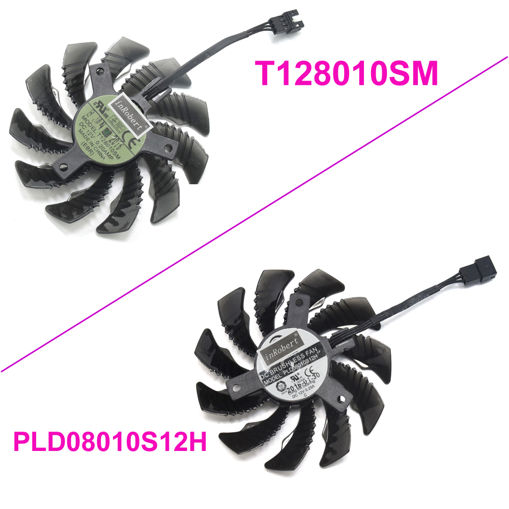 PLD08010S12H T128010SM 75mm 3Pin 2Pin 12V 0.25A Cooler Fan For Gigabyte GV-N960O GV-N960WF2OC-2GD Graphics Card Cooling FanPLD08010S12H T128010SM 75mm 3Pin 2Pin 12V 0.25A Cooler Fan For Gigabyte GV-N960O GV-N960WF2OC-2GD Graphics Card Cooling Fan