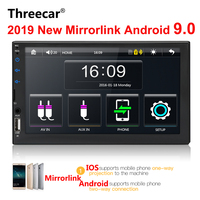 2 din car radio 7 HD Touch Screen Player mirrorlink Android 9 Iphone MP5/SD/FM/MP4/USB/AUX/Bluetooth Car Auto Audio For Camera