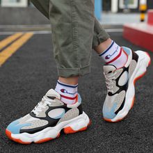 Spring 2019 New Father Retro Sneakers Daddy Shoes Men Splice Mens Thick-soled Ins Leisure Breathable Casual