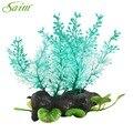 Fish Tank Fake Aquarium Plants Decor Acuarios Small Plastic Aquatic Artificial Tree Decoration Plant Ornaments Accessories