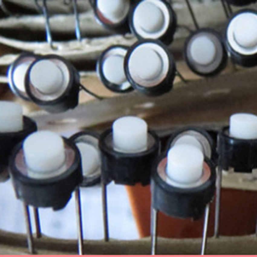Cltgxdd 1 шт. сенсорная кнопка переключения 6*6*5 мм DIP 6X6X5 мм тактильная тактовая кнопка Микро Переключатель мгновенный для ALPS белая головка, оптом