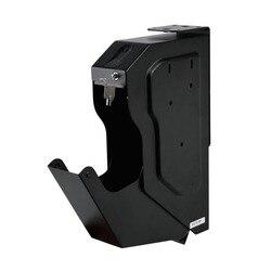 Biometrische Vingerafdruk Kluis koudgewalst Staal Beveiliging Gun Strongbox Draagbare Sleutel Kostbaarheden Sieraden Opbergdoos