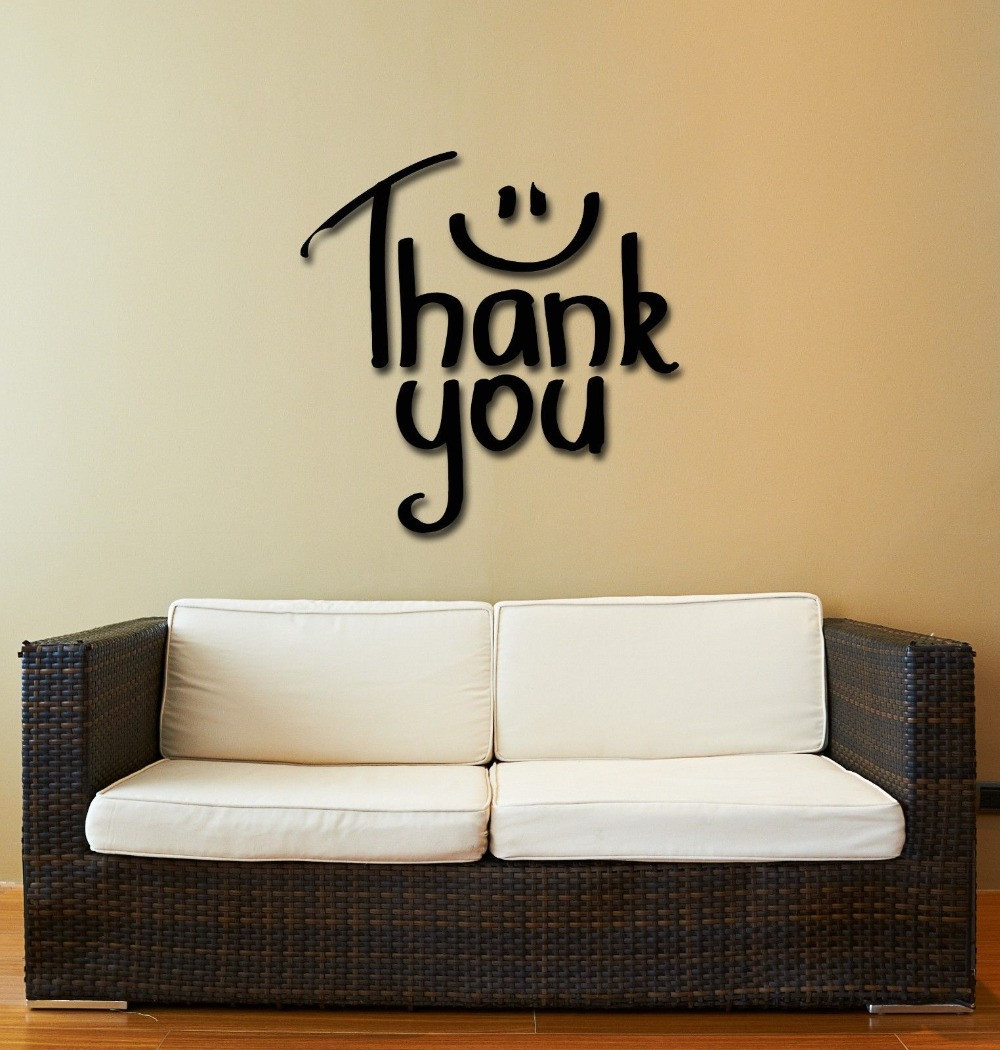 compare prices on thanks quotes online shopping buy low price wall stickers vinyl decal quote inspire message words thank you china mainland