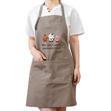 Apron new coffee shop home cleaning gardening seasoning keeper bar waiter sleeveless overalls