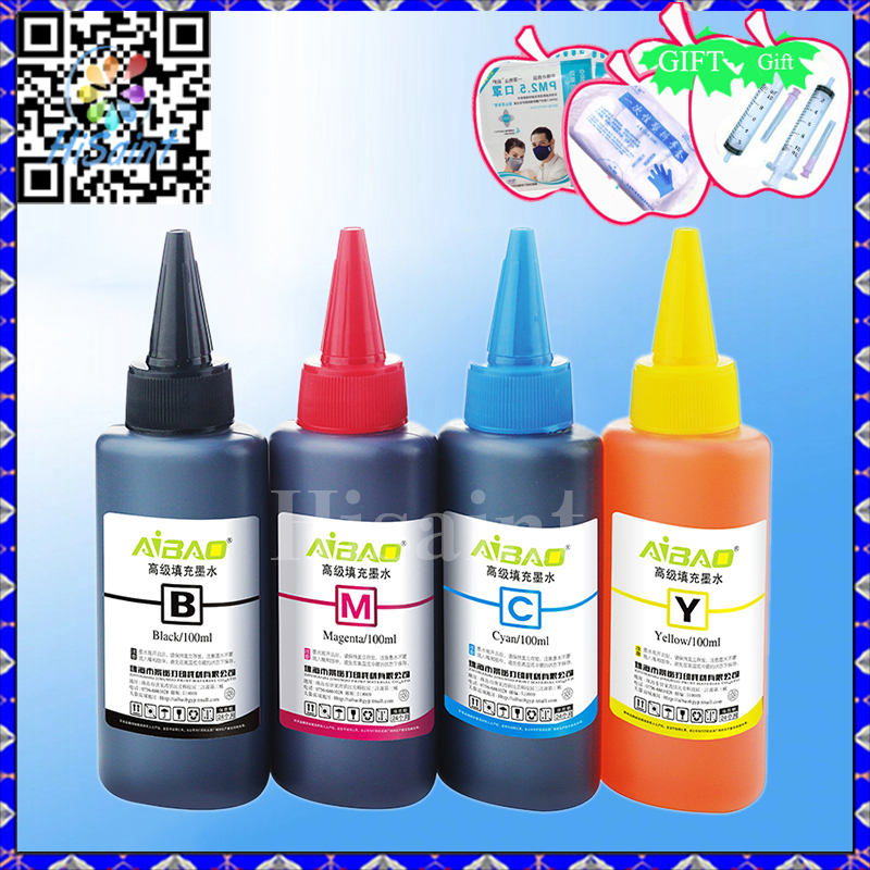 Hisaint 400 ml for HP Printer 920 <font><b>XL</b></font> <font><b>564</b></font> <font><b>XL</b></font> Cartridge Ink Refill Kit Color- Black with Color Refill Syringe Printers image